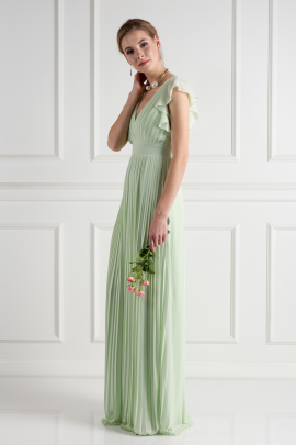 Lyon Spring Green Dress-1