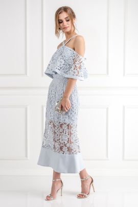 Soft Blue Cutwork Lace Dress -1