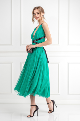 Emerald Green Tulle Dress -1