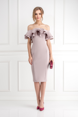 Textured Double Ruffle Dress /VILNIUS-0