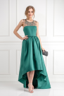 Emerald Satin-twill Gown