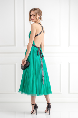 Emerald Green Tulle Dress-2