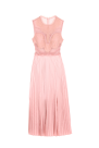 Pink Plated Skirt Dress