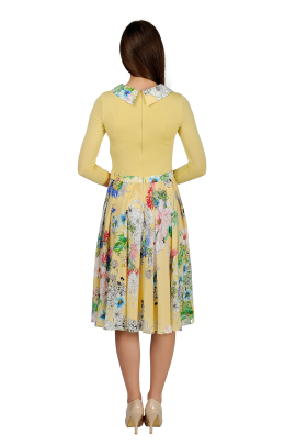 Yellow Long-sleeved Dress-2