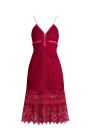 Raspberry Red Floral Dress / VILNIUS