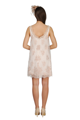 Ivory Embroidered Dress-2