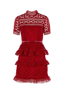 Red Star Lace Dress-1