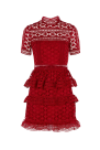 Red Star Lace Dress