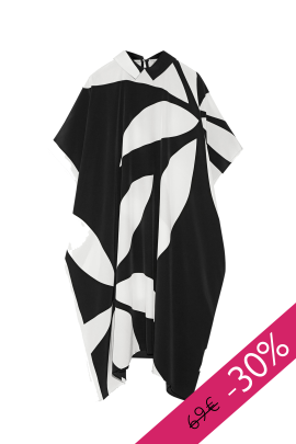 Printed Silk Crepe Dress-0