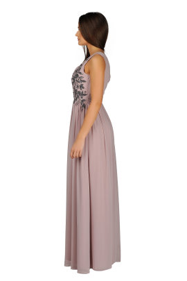 Applique Bodice Maxi Dress-2