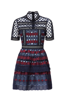 Hexagon Lace Mini Dress / VILNIUS-1
