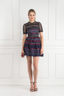 Hexagon Lace Mini Dress / VILNIUS-2