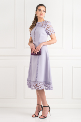 Lilac Lace Insert Dress-1