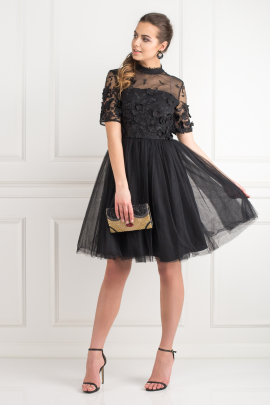 Oria Black Dress -0
