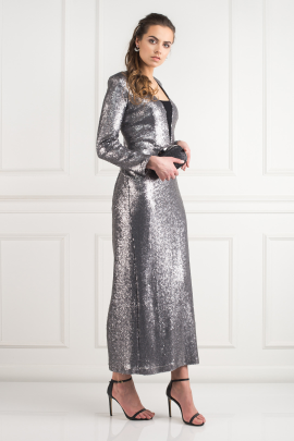 Silver Sequin Gown-1