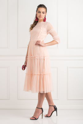 Tiered Sheer Tulle Dress -1