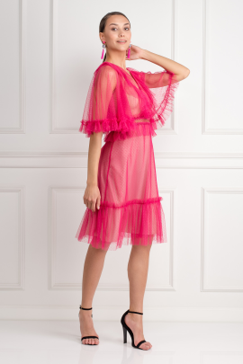 Ruffled Midi Dress-1