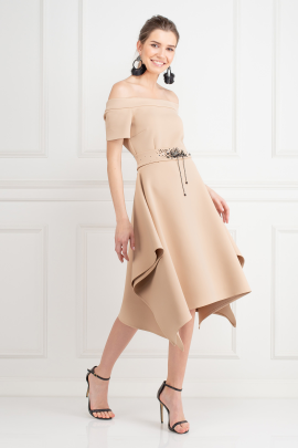 Beige Miranda Dress-0