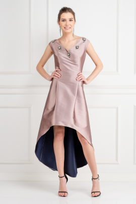 Alexandra Satin-Twill Dress-1