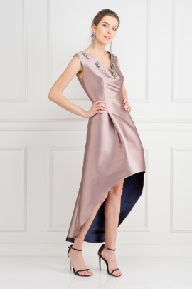 Alexandra Satin-Twill Dress-2
