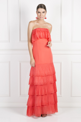 Off-Shoulder Coral Havana Dress-0