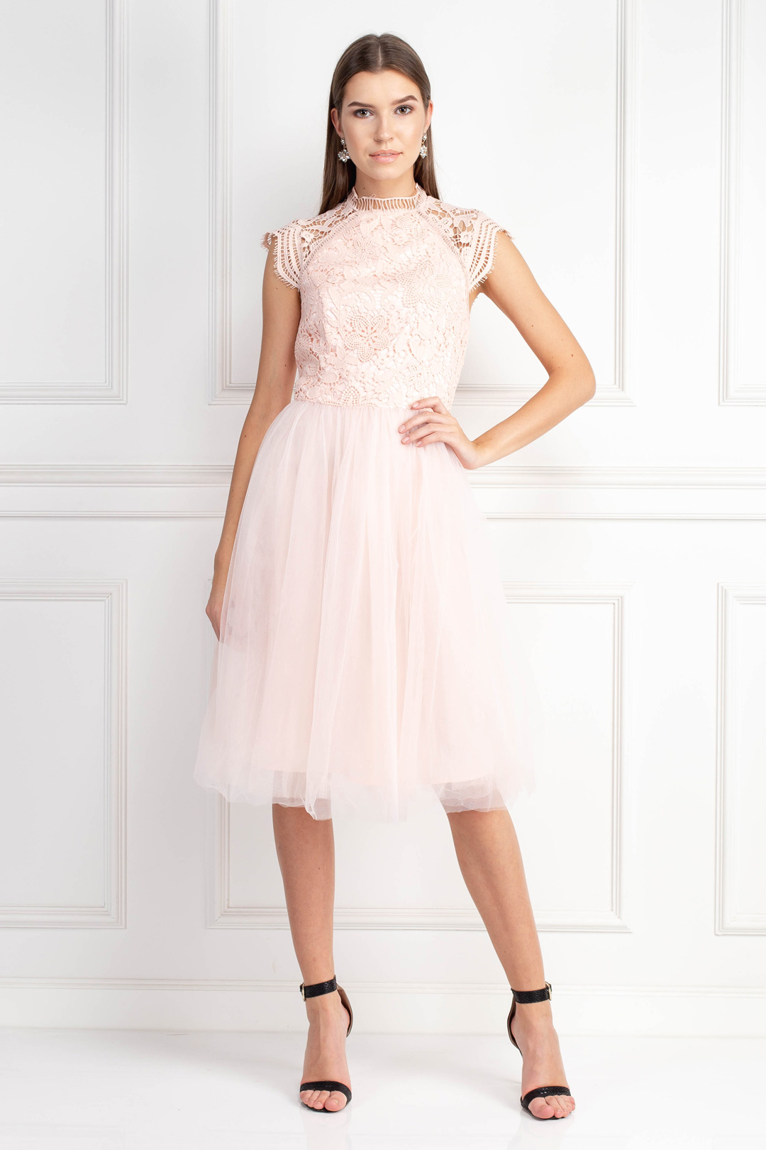 Light Pink Tulle Skirt Dress