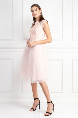 Light Pink Tulle Skirt Dress-1