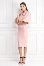 Puff Sleeve Tied Neck Dress / VILNIUS