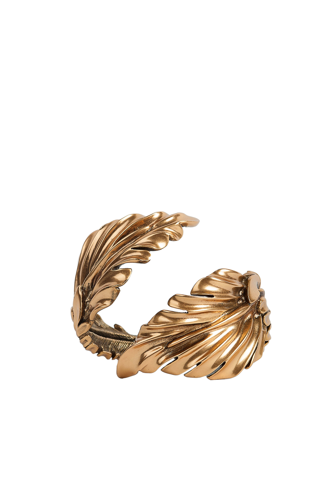 Gold-plated Leaf Cuff