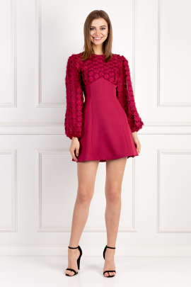 Mirrors Long Sleeve Raspberry Dress / VILNIUS-0