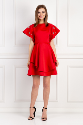 Red Melrose Dress / VILNIUS-0
