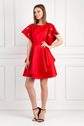 Red Melrose Dress / VILNIUS-1
