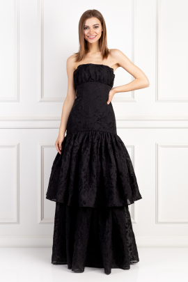 Imperial Long Black Dress-0