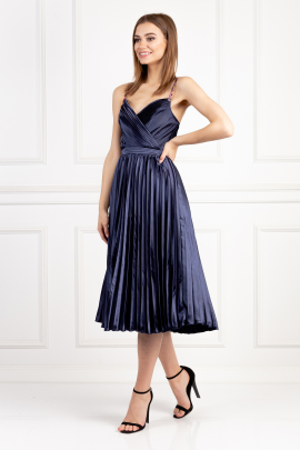 Melanie Navy Dress-1