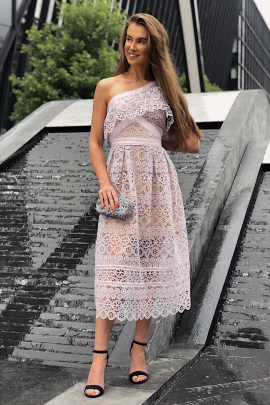 Lace Frill Violet Dress / VILNIUS-0