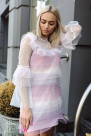 Rainbow Pastel Mini Dress / VILNIUS