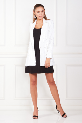 White Blazer With Mini dress-0