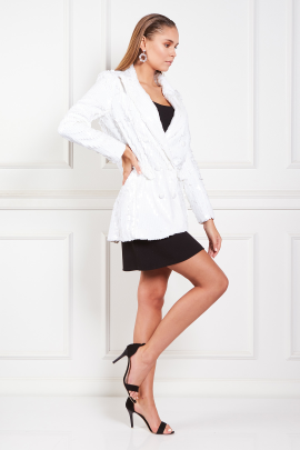 White Blazer With Mini dress-1