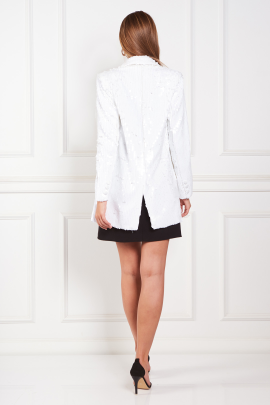 White Blazer With Mini dress-2