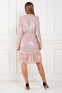 Tulle-Trimmed Sequined Chiffon dress