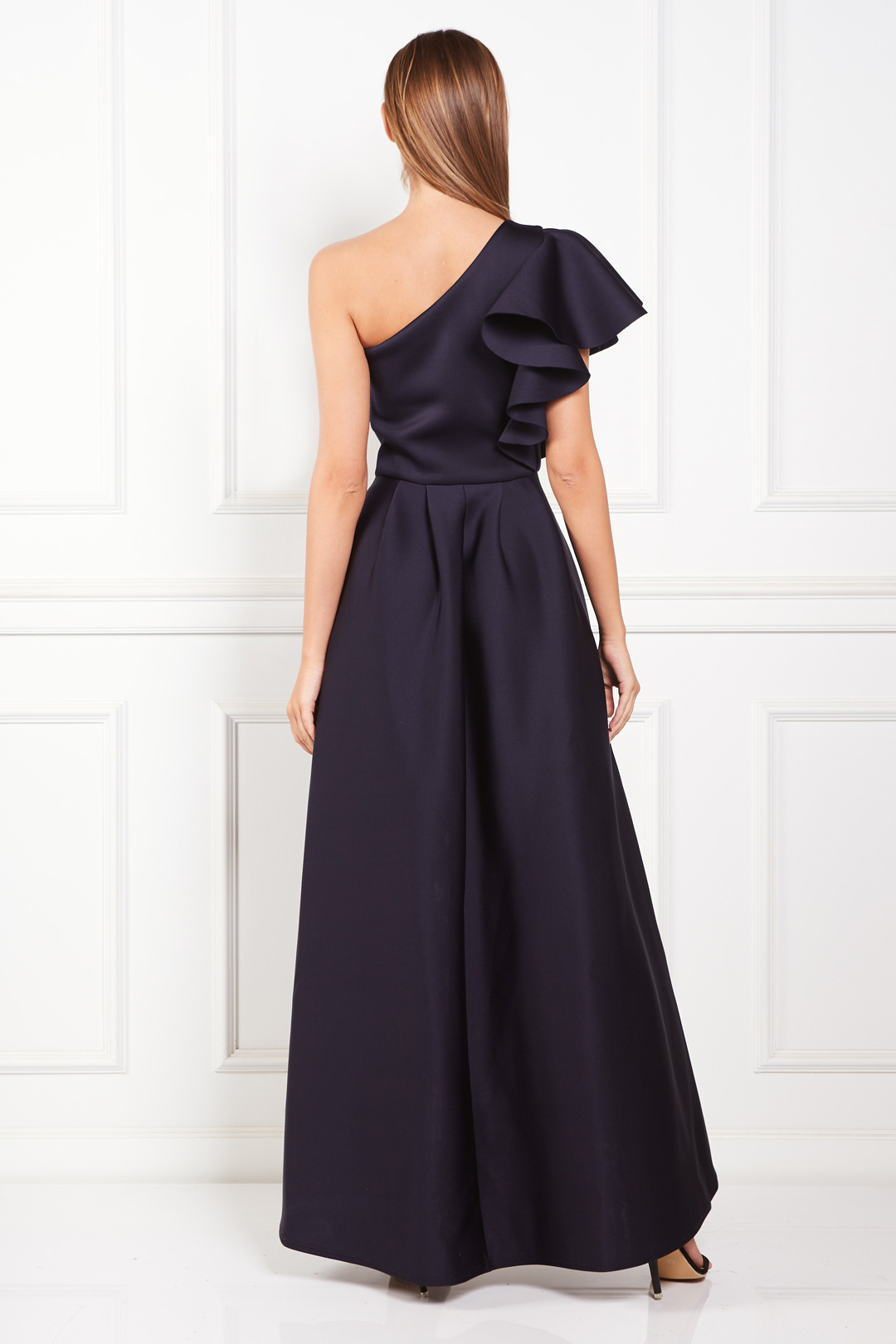 Frill One Shoulder Maxi Dress