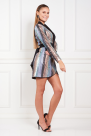 Mini Dress In Stripe Sequin
