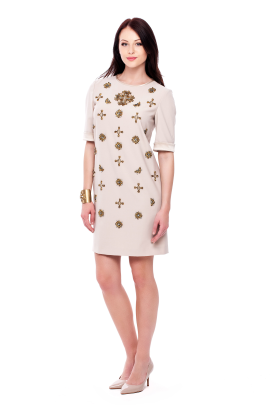 Plain Weave Dress with Stars-2