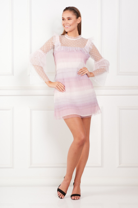 Rainbow Pastel Mini Dress-0