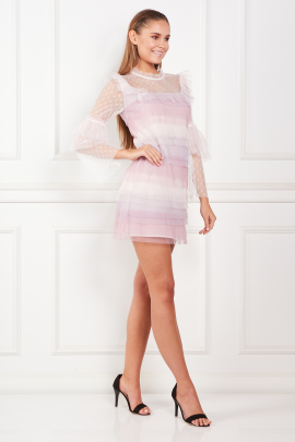 Rainbow Pastel Mini Dress-1