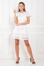 White Floral Broderie Mini Dress