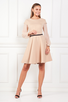 Beige Samantha Dress-0