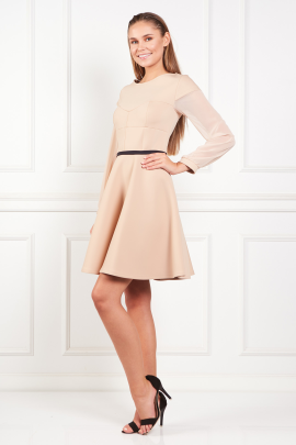 Beige Samantha Dress-1