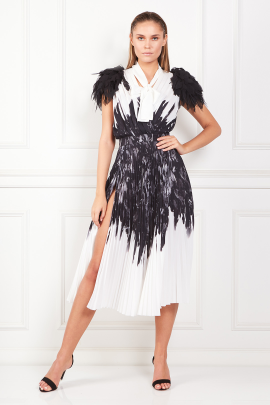 * Dress With Feather Print-0
