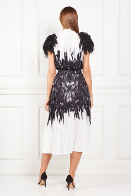 * Dress With Feather Print-2
